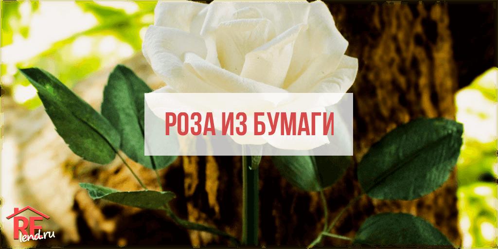 preview_article_image Как сделать розу из бумаги своими руками