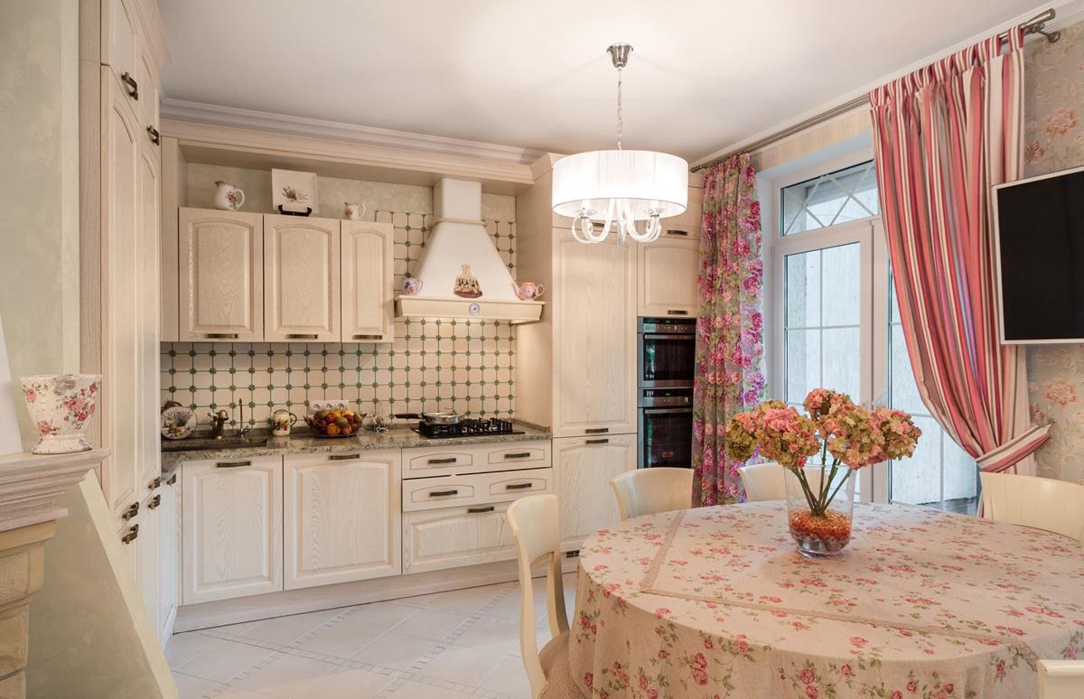 кухня в стиле прованс как оформить в квартире гостиная белая