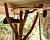 Игровой комплекс из спиленного дерева