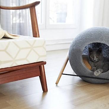 Стильный домик для кошки
