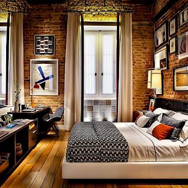 Спальное и рабочее место на маленьком пространстве