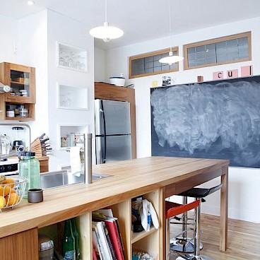 Меловая доска на кухне