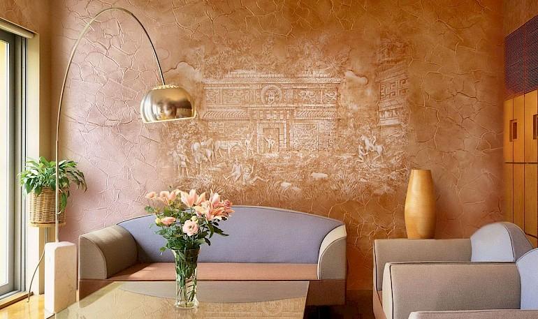 Фреска на основе венецианской штукатурки