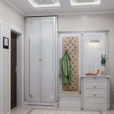 Встроенный шкаф хорошо сэкономит место в интерьере