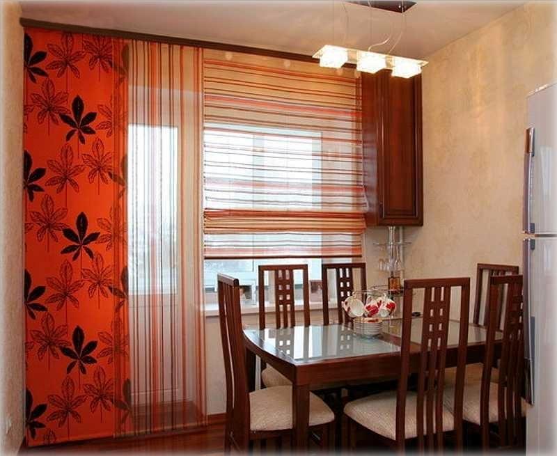 гардины-панели для кухни
