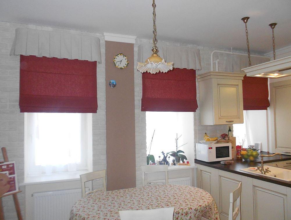 панельные шторы для кухни