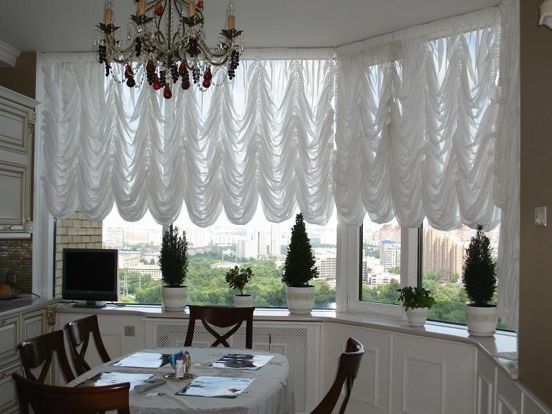 французкие шторы для кухни