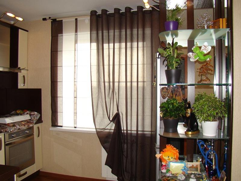 шторы для кухни с люверсами