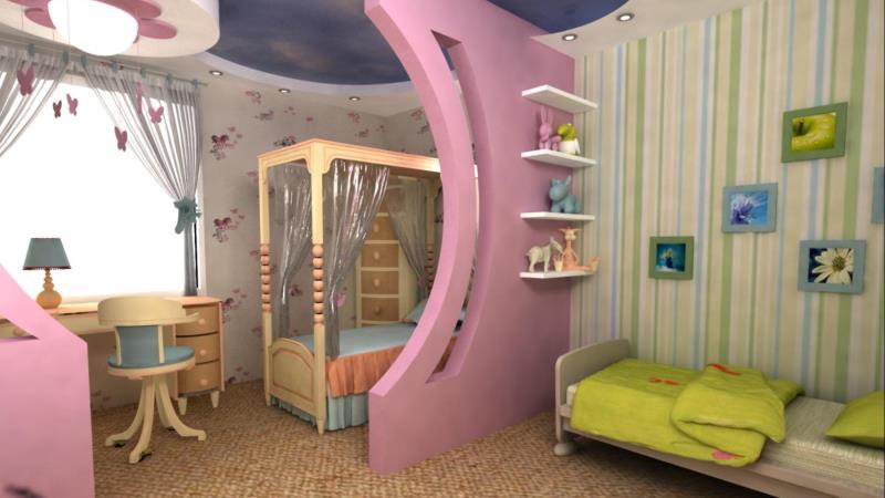комната девочек разного возраста