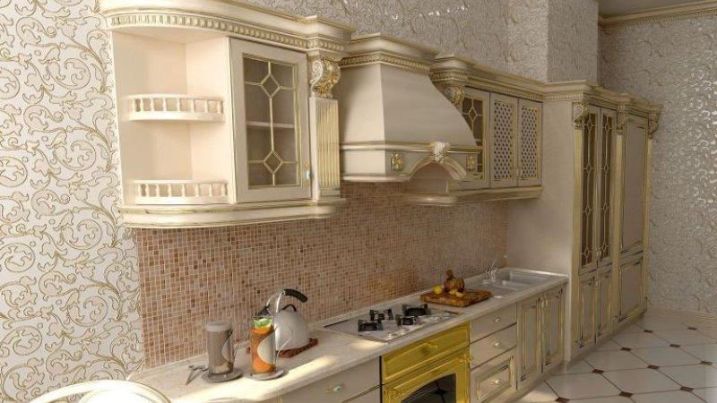 обои для кухни в классическом стиле