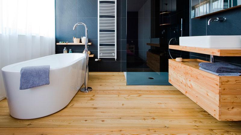 ламинат для ванной команты