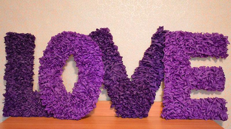 буквы из гофрированной бумаги