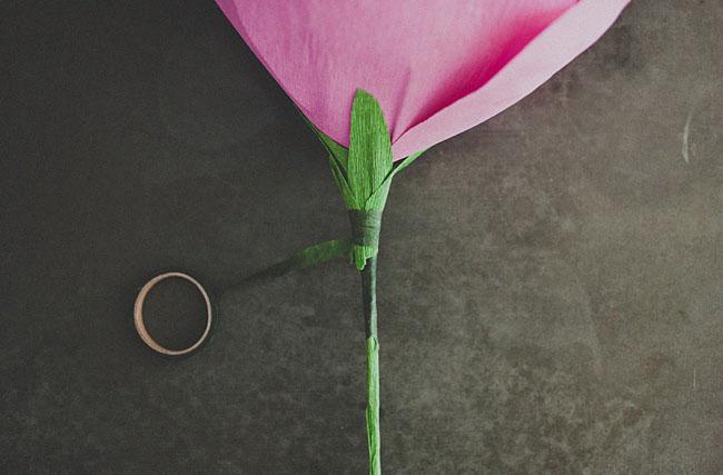 формируем стебель розы