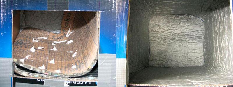 проклеиваем внутри водоотталкивающим материалом