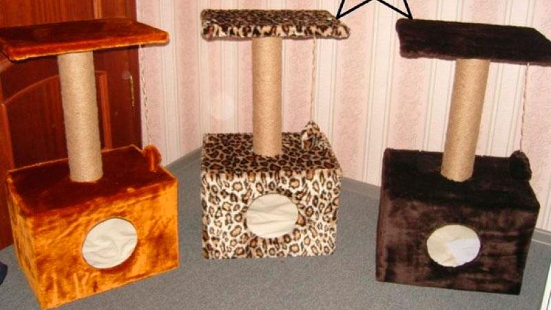 простые домики для кошки своими руками
