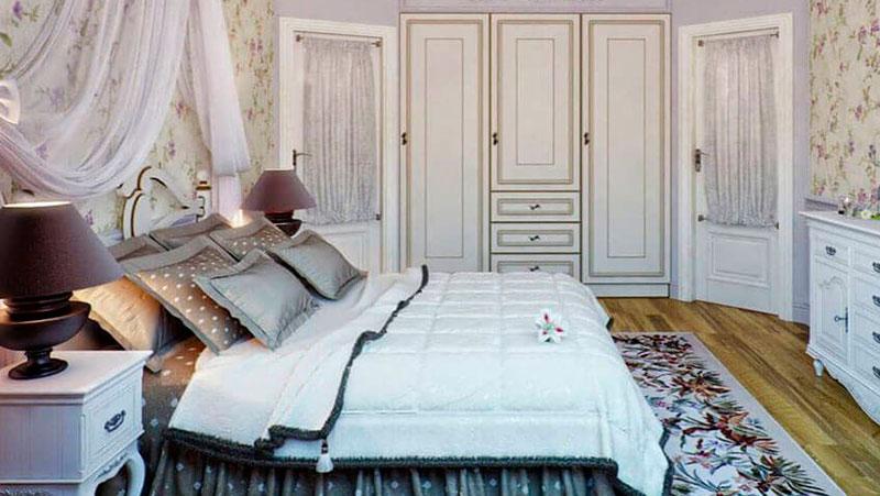 прованс в интерьере спальни