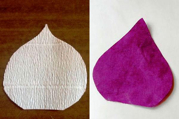 вырезаем форму цветка каллы