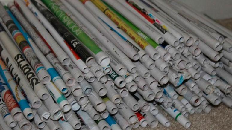 заготавливаем трубочки из газет