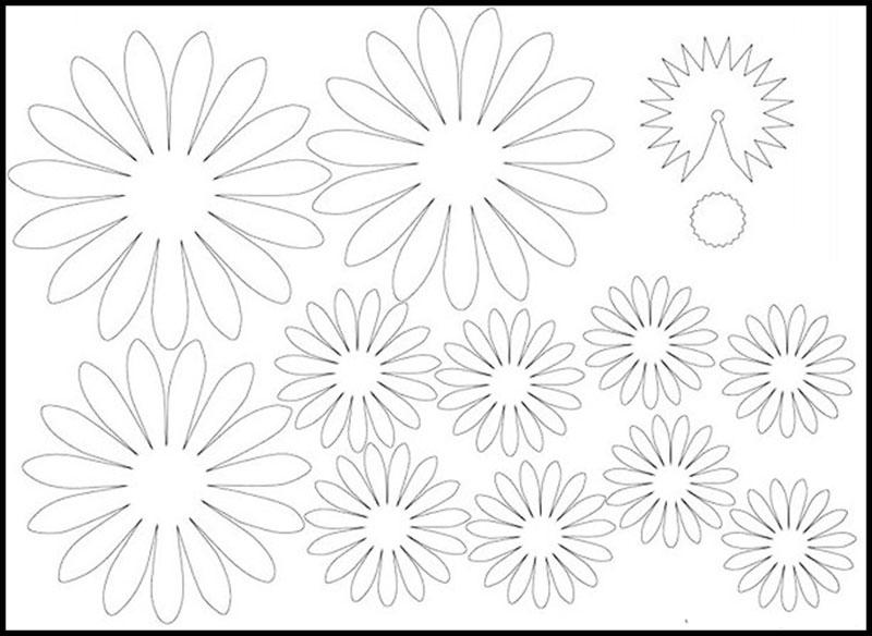 заготовки для цветка гербера