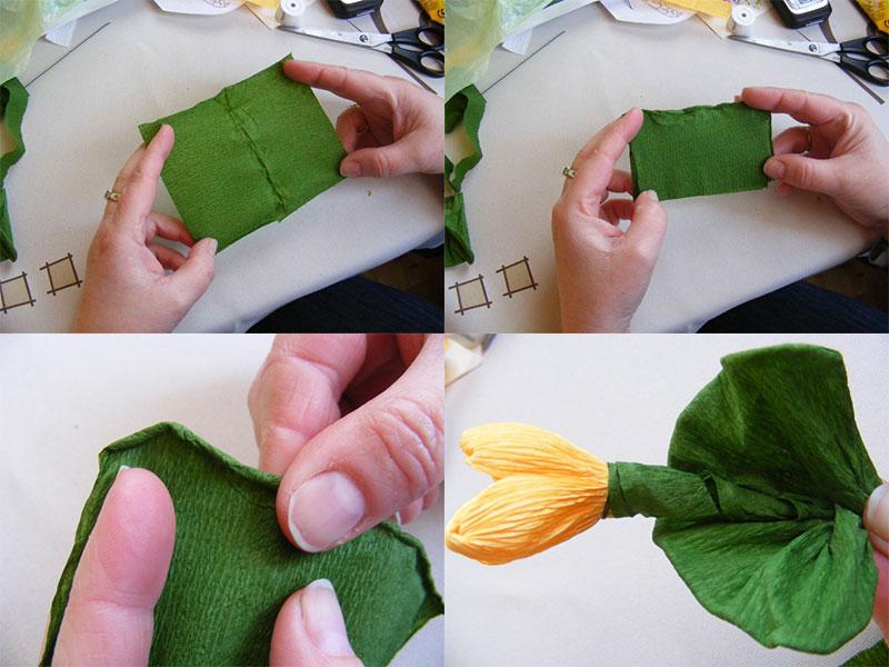 делаем стебель и листья