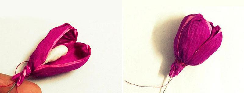 формируем бутон тюльпана