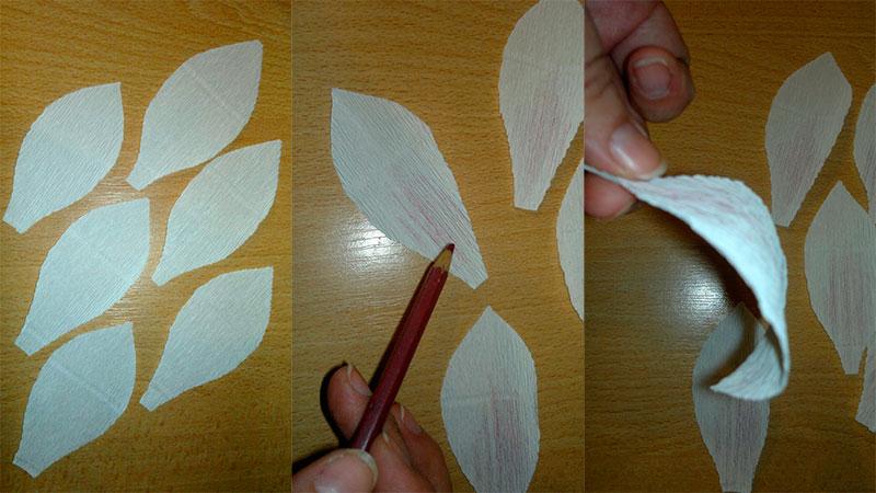 нарезаем лепестки для лилии