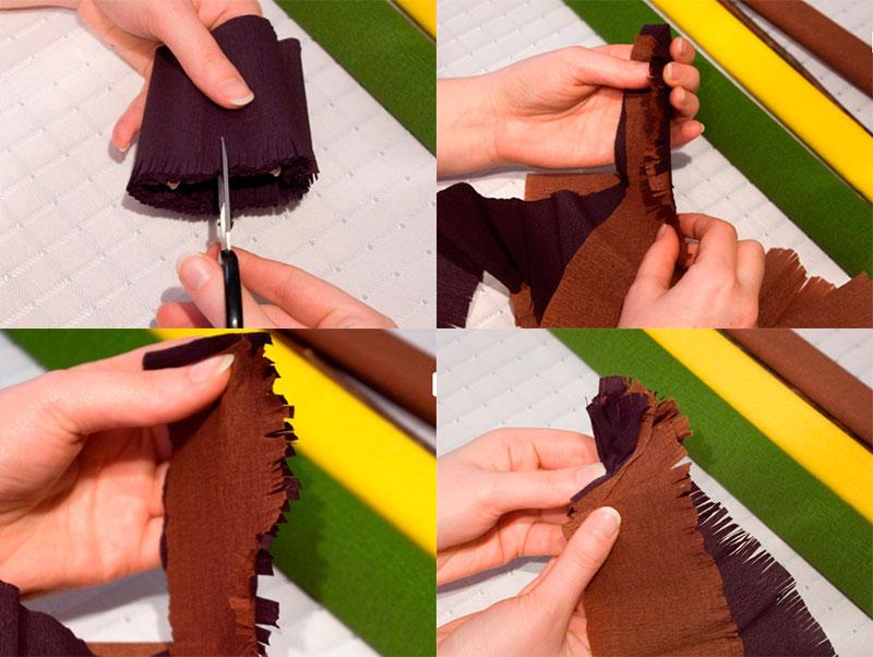 сделать небольшие надрезы ножницами