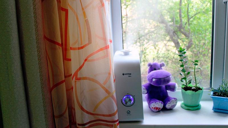 паровой увлажнитель воздуха для детской