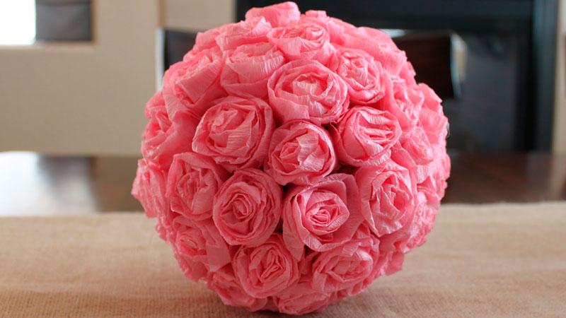 готовый шар с розами