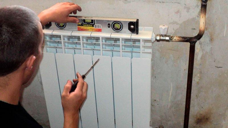 как установить биметаллические батареи отопления