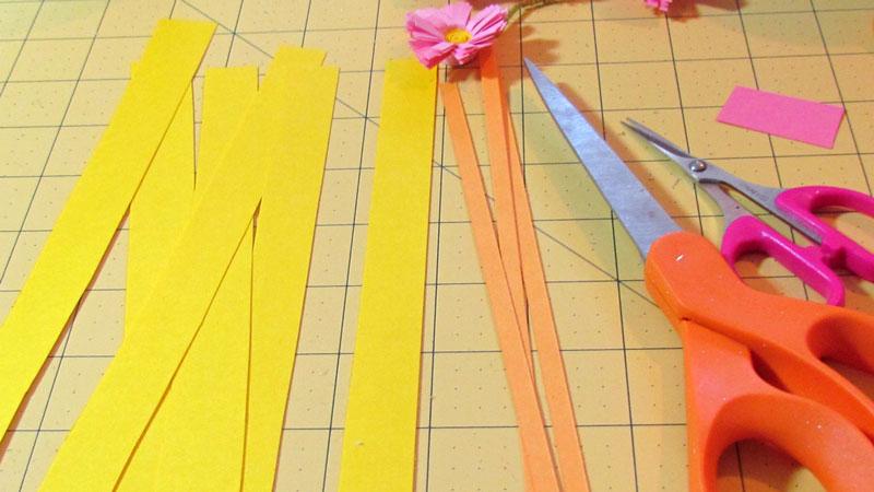 нарезаем полоски разной ширины