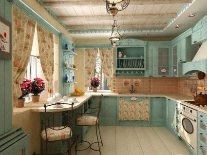 прованс в интерьере кухни