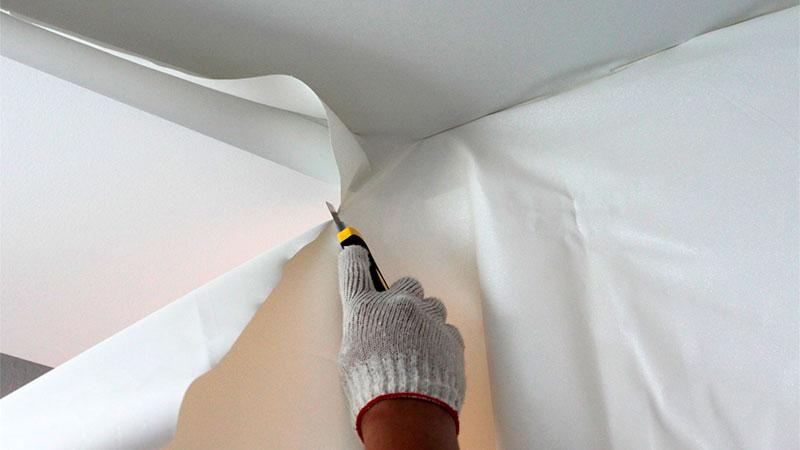 тканевые потолки своими руками